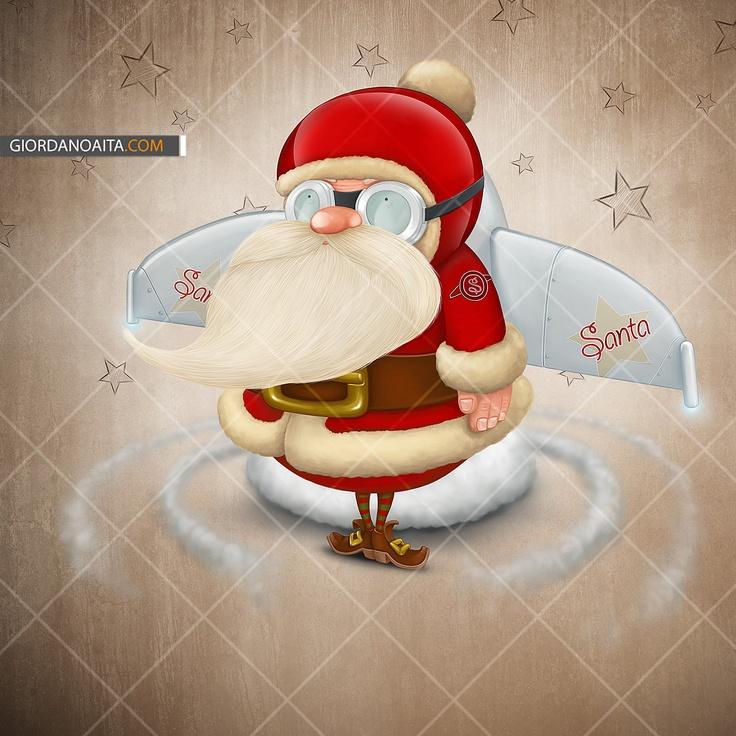 Santa Claus Rocket - © Giordano Aita - All right reserved   http://it.fotolia.com/p/120313/partner/120313