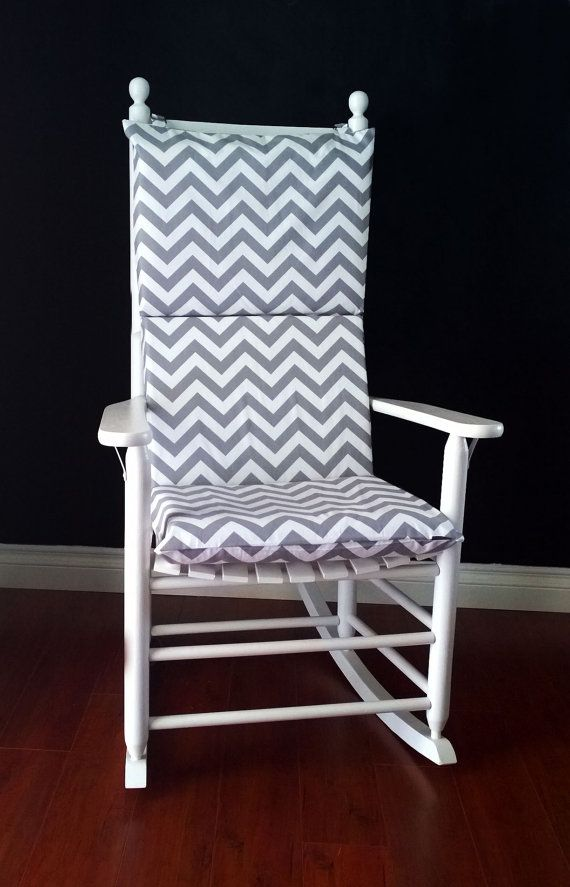 Rocking Chair Cushion for baby nursery. Grey Chevron by RockinCushions on Etsy, $75.00