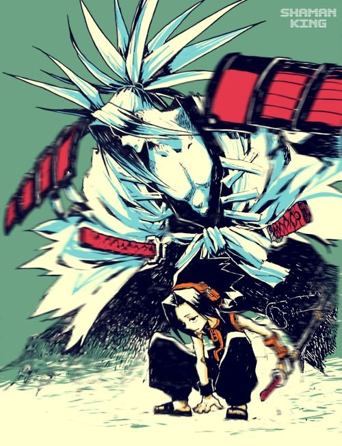 Shaman King. Haven't watched this in a while! Oh Yo!