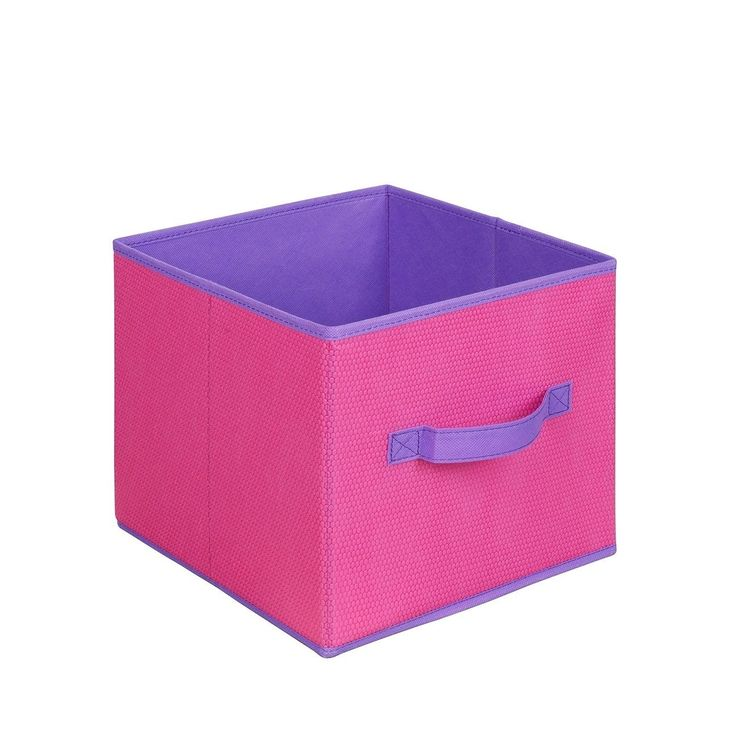 Pink and Purple Collapsible Storage Cube (Set of 3) (Pink, Purple) (Fabric)