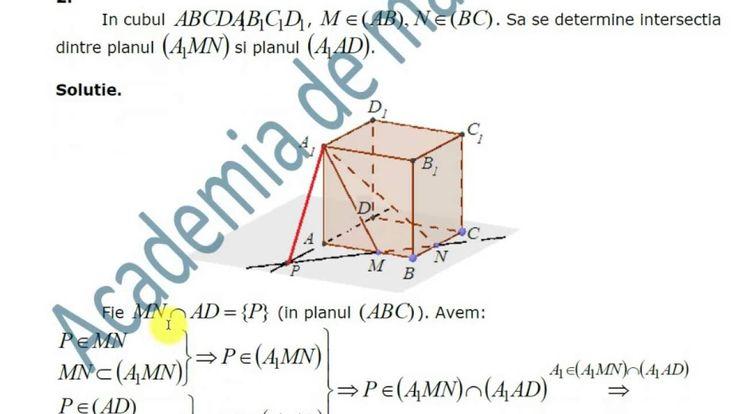 VIII-Geometrie-Punctre, drepte, plane. Determinarea dreptei si planului