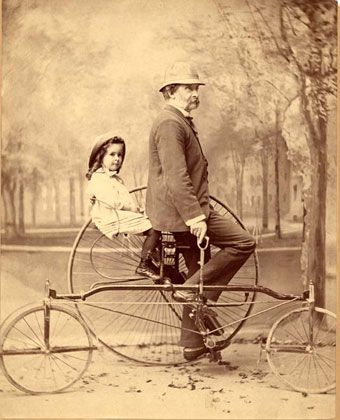 Thomas Wentworth Higginson (1823-1911), correspondent | Emily Dickinson Museum ~ three wheeled penny farthing.
