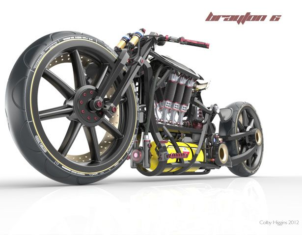 Brayton 6 concept bike was designed from the inside out in order to create a true high-performance machine. Designed by Colby Higgins
