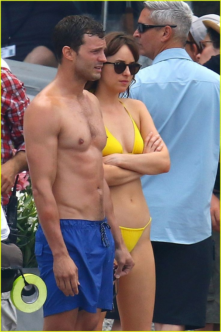 Jamie Dornan's Wife Amelia Warner Joins Him for 'Fifty Shades' Beach Scenes!