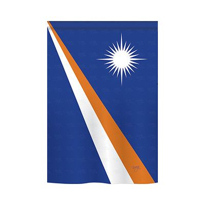 TwoGroupFlagCo Marshall Islands 2-Sided Vertical Flag Size: