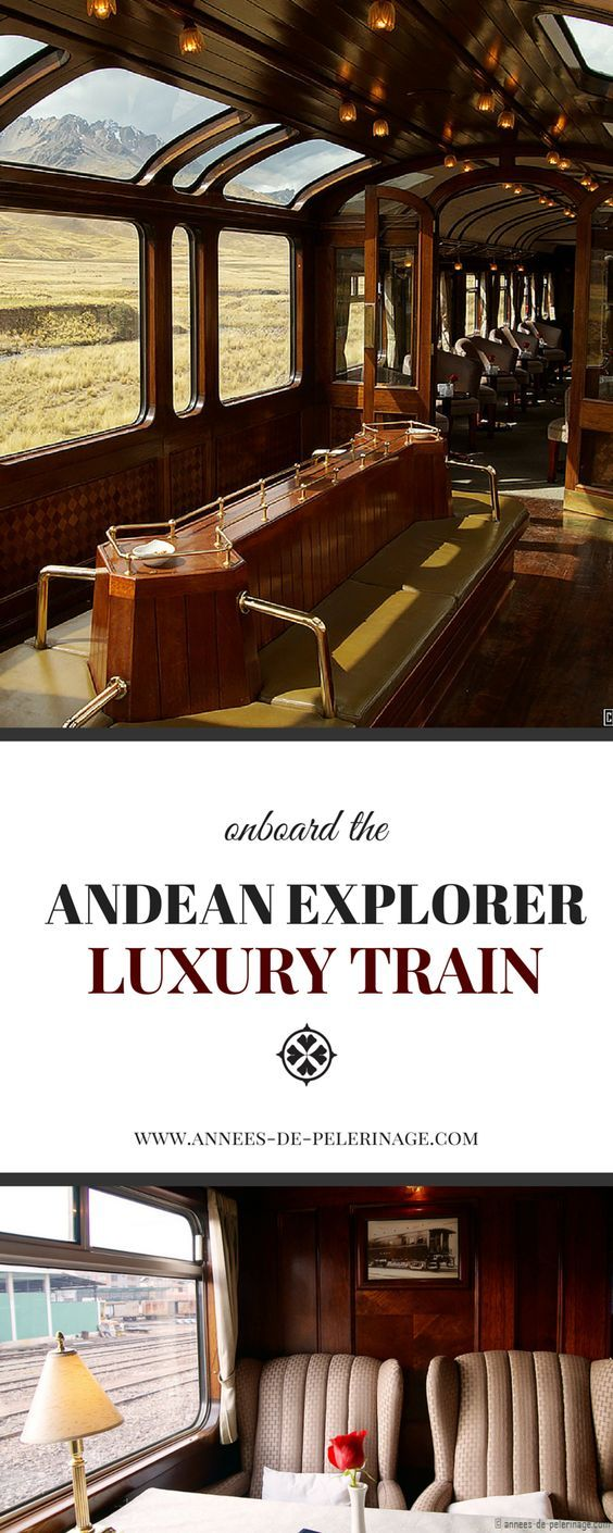We're so adding this luxury train ride to our travel bucket list: The Andean Explorer is a unique Luxury Train that goes from Cusco to Puno. Operated by Peru Rail it is frequently ranked among the top luxury train journeys in the world.