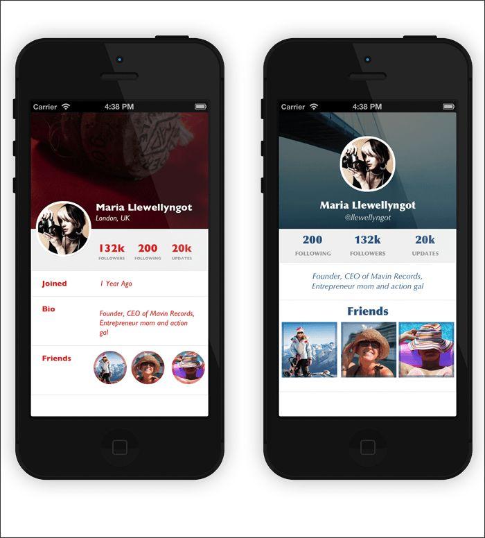 Minimal UI User Profile Design