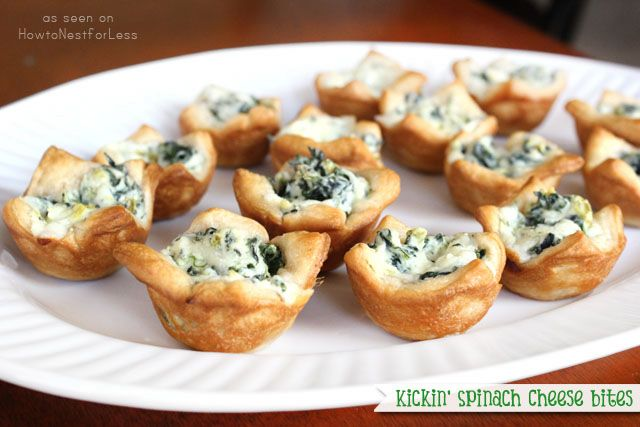 Kickin' Spinach Cheese Bites that will be a total touchdown! Serve with Sutter Home Sweet White or Sauvignon Blanc.Food Recipes, Bites Recipe'S I, Yummy Recipe, Spinach Cheese Bites, Appetizers, Kickin, Food Recipe'S Drinks, Years I V, I V Decide