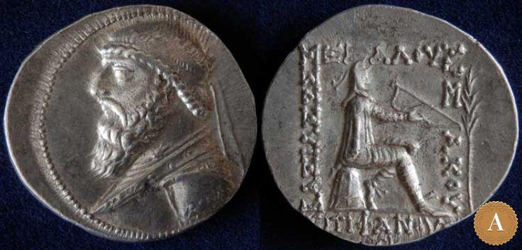 Парфянское царство, Митридат II, 121-91 годы до Р.Х., тетрадрахма. | ANDREY PYATYGIN ANCIENT COINS | Магазины | Антикварус