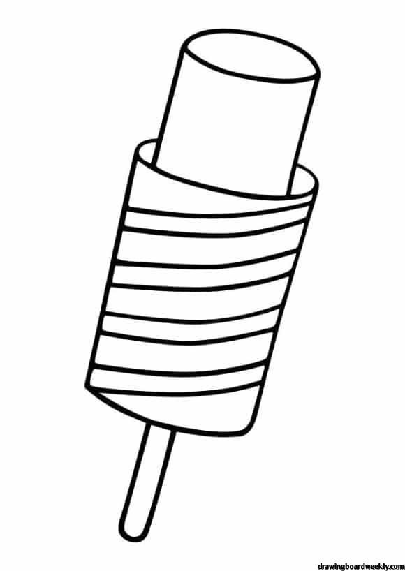 Popsicle Coloring Page Popsicles