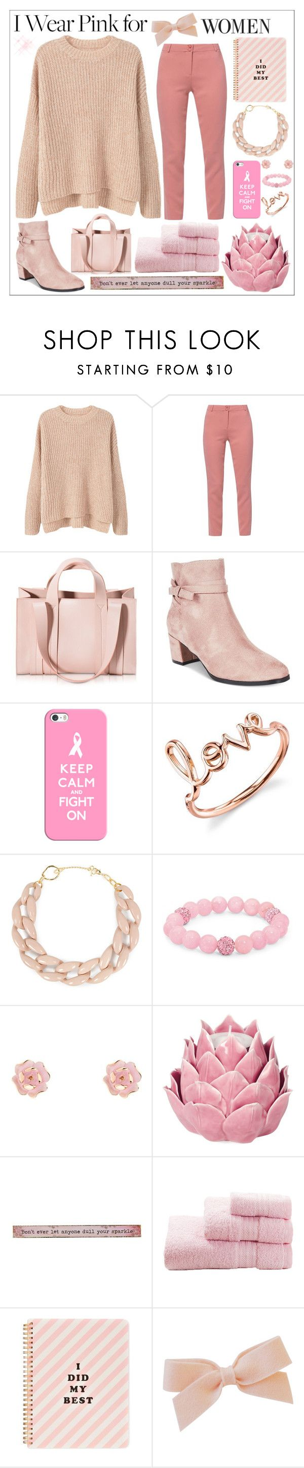 """""""pink for women"""" by perfectlydeathly ❤ liked on Polyvore featuring MANGO, WtR London, Corto Moltedo, Impo, Casetify, Sydney Evan, DIANA BROUSSARD, Palm Beach Jewelry, Ted Baker and Zara Home"""