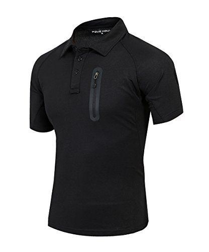 TACVASEN Military Quick Dry UV Protection Men's Polo T-Shirt
