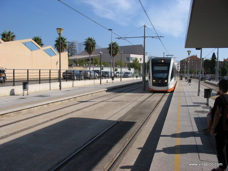 with the TRAM from Villajoyosa to Alicante