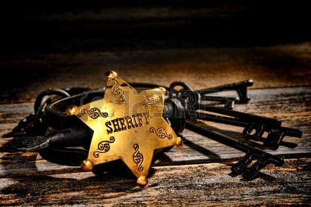 West americano leggenda funzionario di polizia sceriffo sceriffo vice ottone stella distintivo
