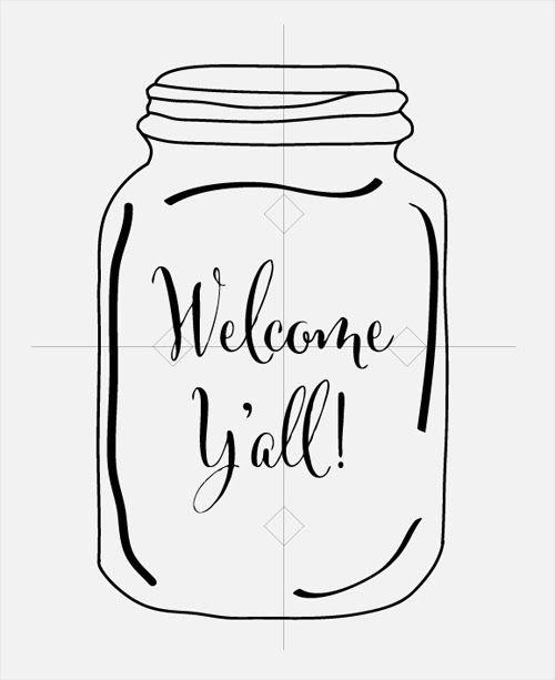 Crocus Lane: Welcome Ya'll Mason Jar Door Hanger Tutorial