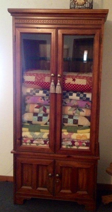 Gun cabinet to quilt closet!