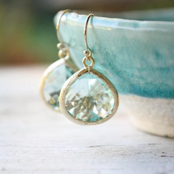tenthings laguna green amethyst gold earrings by TenThings