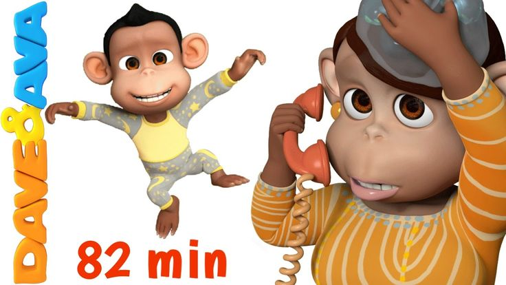 Five Little Monkeys Jumping on the Bed | Nursery Rhymes Collection from ...