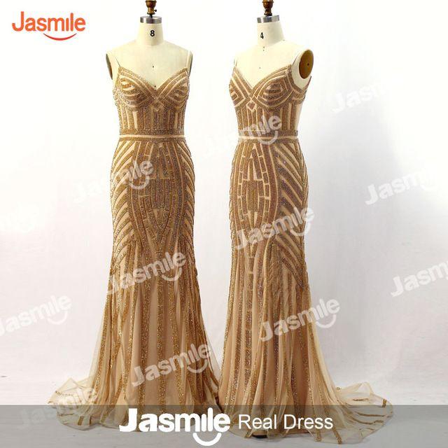 Chegada nova Sereia Vestidos de Baile Querida Spagetti Straps Bling Cristal Beading Azul Preto Longo Branco Vestidos de Noite 2016 JB966