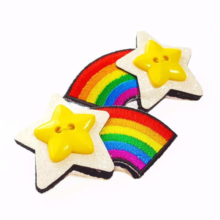 The perfect gift for any colour lover, this shooting star brooch is presented in a gift box with a matching 'Life is better in Colour' Pin badge. Made from 100% wool felt decorated with glitter fabric, a rainbow motif and a yellow star, this handmade felt brooch is an easy way to add a whole rainbow of colour to your outfit! Full Description:- Shooting Star Rainbow Brooch made from 100% wool felt- Decorated with wool blend felt (30% wool, 70% viscose) glitter fabric, a...