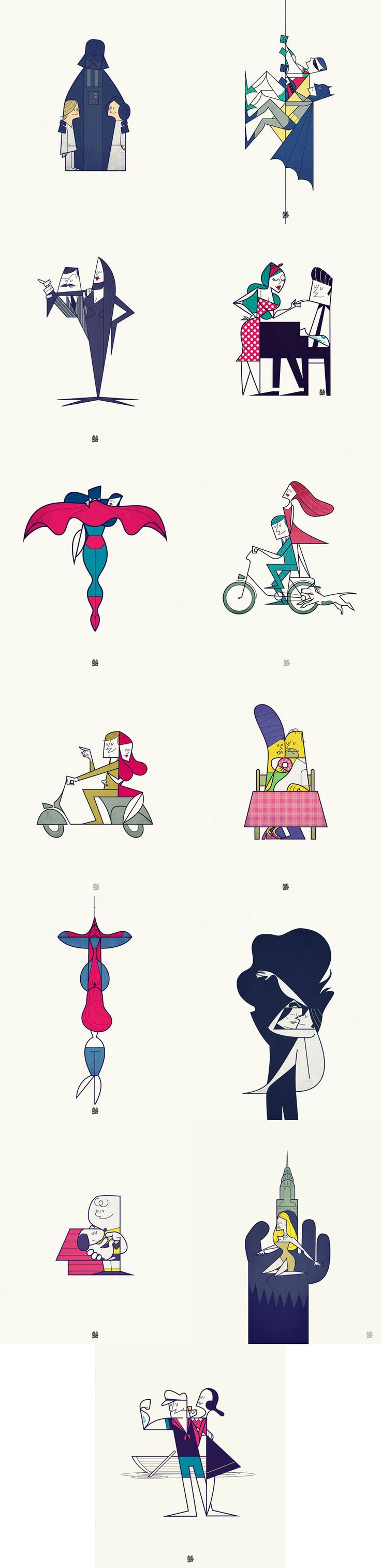 Famous Loves - Character Illustrations by Ale Giorgini