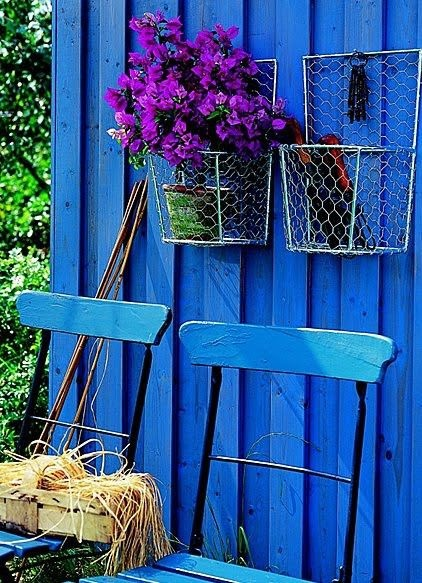 rustic and blue