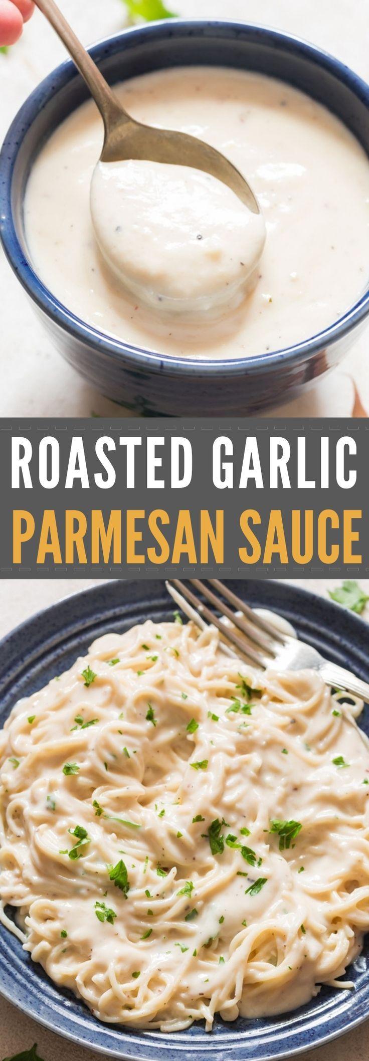 Roasted Garlic Parmesan Sauce