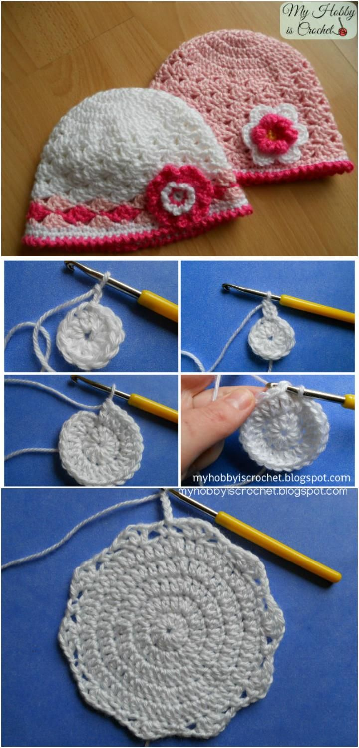17 Free Crochet Baby Beanie Hat Patterns | 101 Crochet