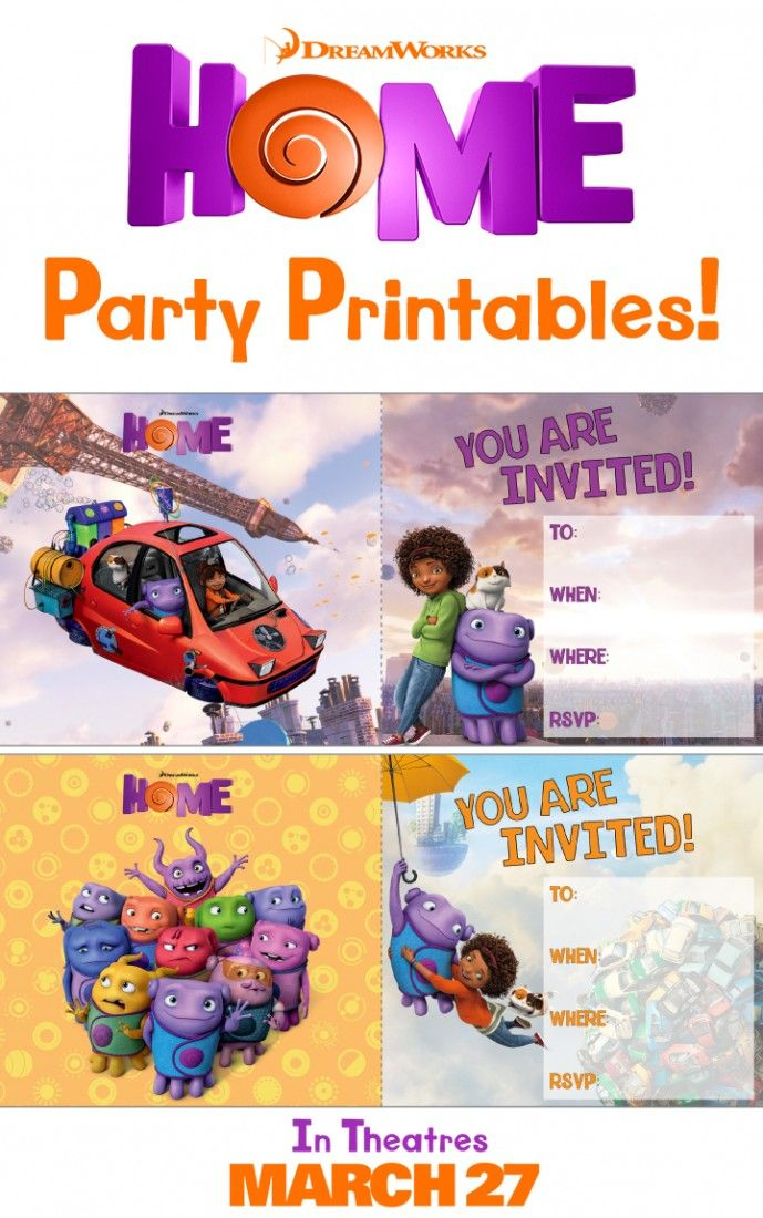 Make Your Next Party A Home Theme With These Printable Invitations