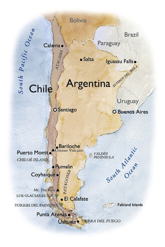Best Chile Maps Images On Pinterest Chile Maps And Travel - Argentina political map 1996