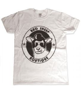 Bad Sheep Boutique Logo T-Shirt - White. Only £10 http://www.badsheepboutique.com/bad-sheep-boutique-logo-t-shirt---white-434-p.asp