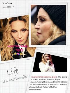 """It seems Madonna is not satisfied with the upcoming biopic about her.   Madonna, 58, took to her Instagram account to blast the """"Blonde a..."""