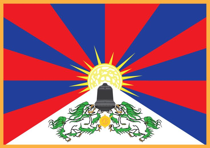 "Tibet Flagge ""Die Glocke"" - for some English readers well known as ""the Bell"" included into the environment of the Tibetan flag and the Nordmark Logo #Tibet #VRIL #Haunebu #Neuschwabendland"