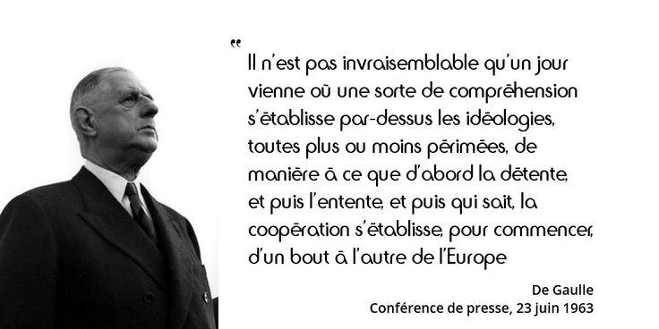 23 juin 1963 : déclaration prophétique du général de Gaulle lors de sa conférence de presse