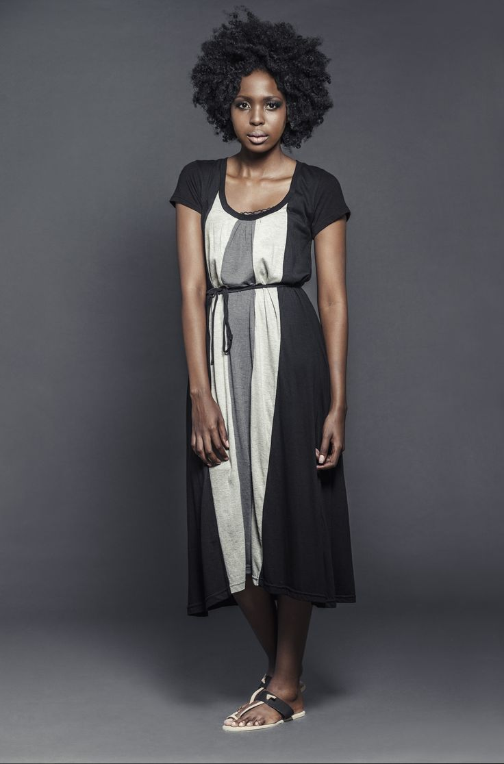 Ladies viscose contrast panel dress with sleeves. For more information visit: https://www.facebook.com/pengellyclothing or https://www.pengelly.co.za