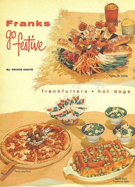 Franks Go Festive!    Family Circle article, July 1956