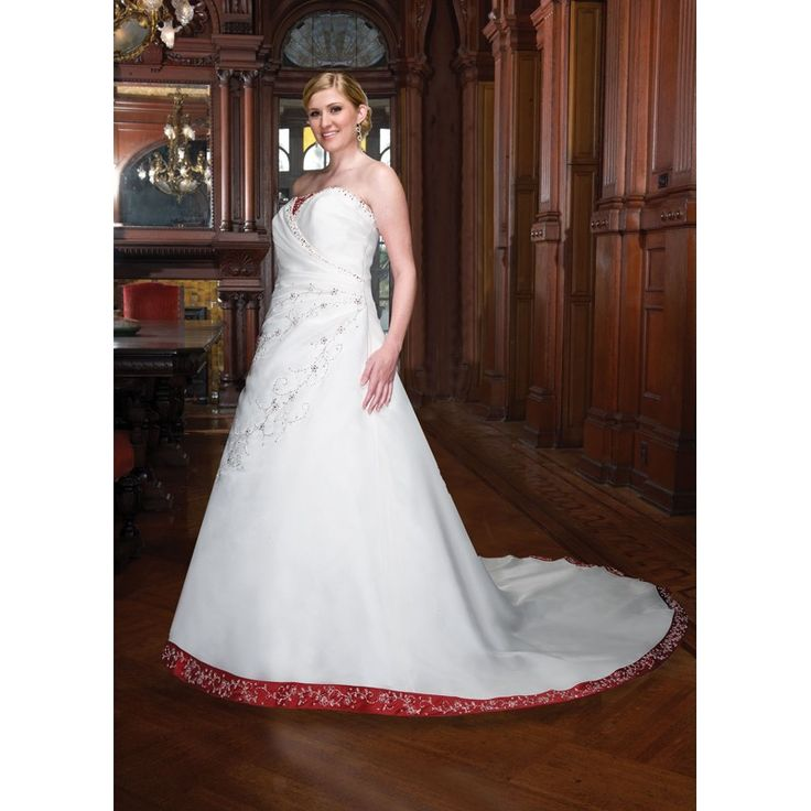Stunning simple plus size wedding dresses with color accents Simple Plus Size Wedding Dresses Ideas