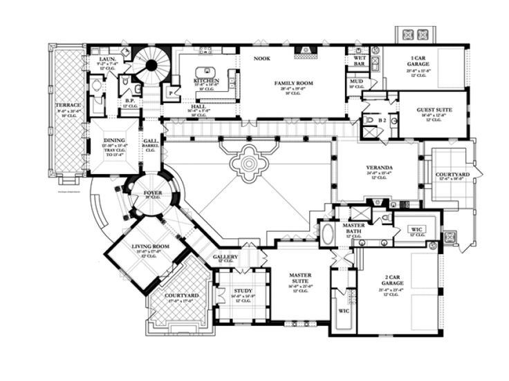 Eclectic house plan images eplans spanish house plan for Spanish style home plans with courtyard