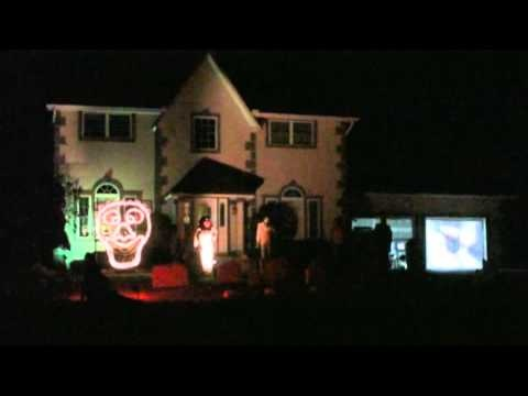 halloween light show kidnap the sandy claws