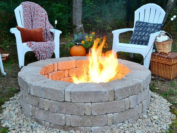 Resin Adirondack chairs make the space around your fire pit cozy and comfortable and are virtually maintenance free. Invite your friends and family over for marshmallow roasting in your new fire pit!