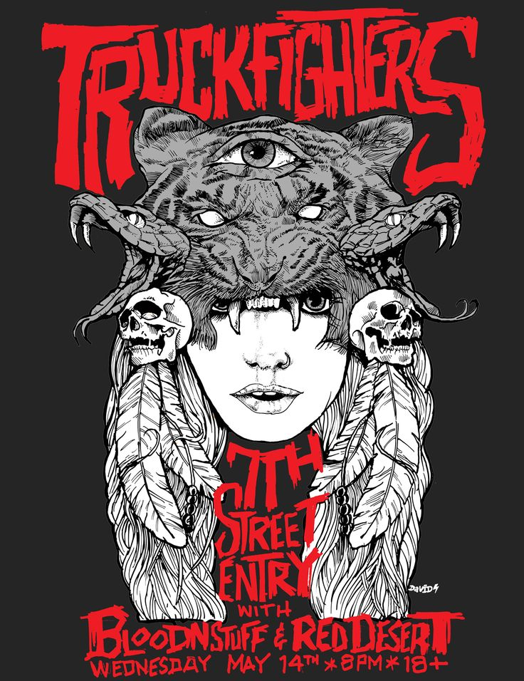truckfighters concert posters - Google Search
