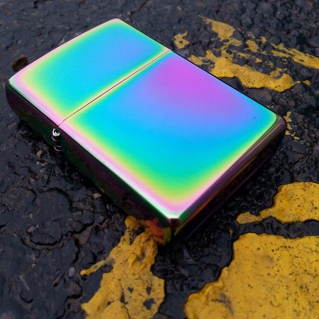 Spectrum finish Zippo lighter.