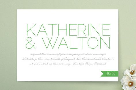 Simply Couture Wedding Invitations by j.bartyn at minted.com
