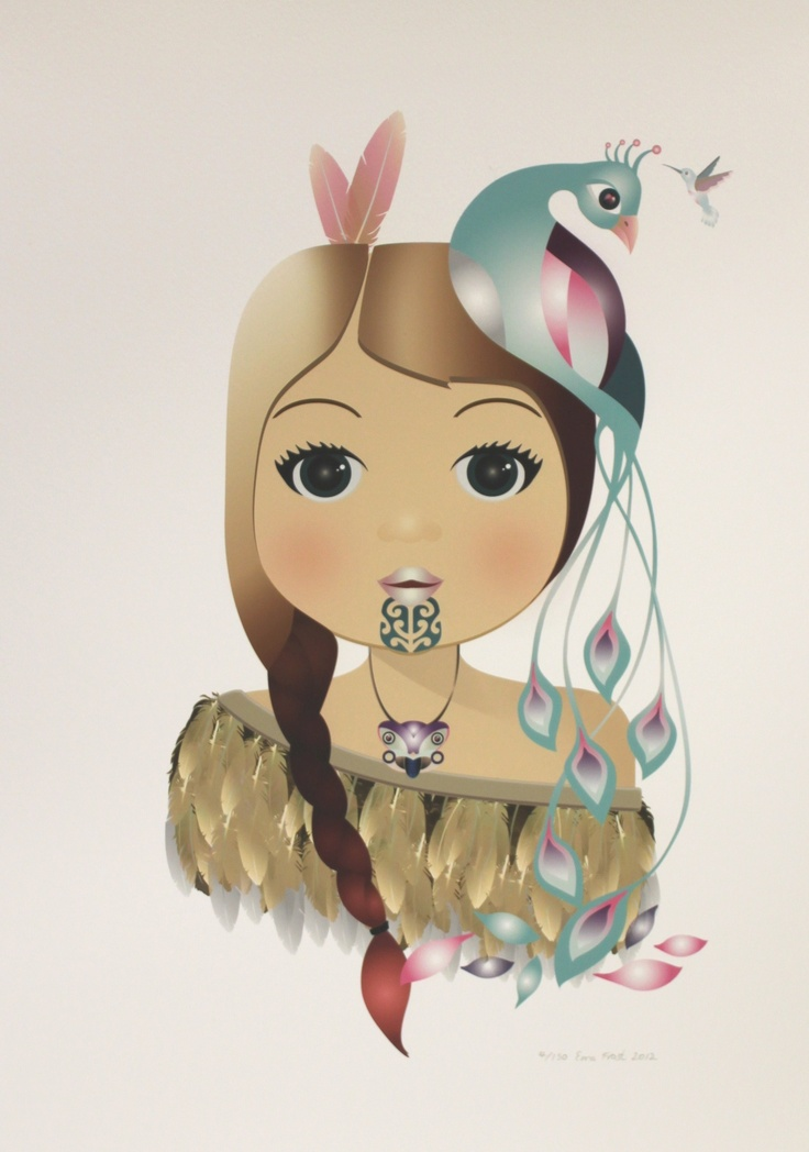 Little Warrior Girl (Peacock) by Ema Frost