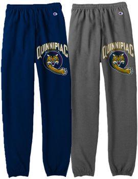 Quinnipiac University Banded Sweatpants | Quinnipiac University- Mens small in gray