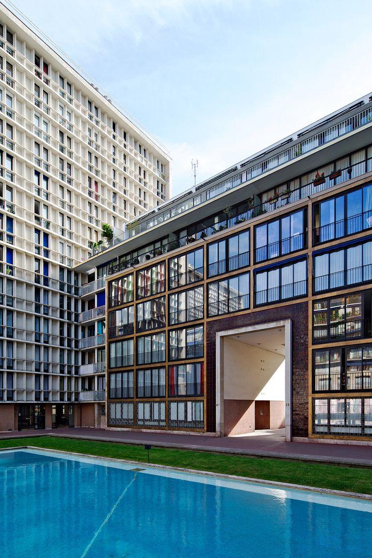 F.Pouillon architecte / L'ensemble du Point du Jour © Olivier Amsellem