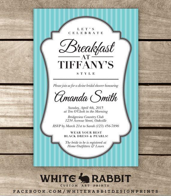 Bridal Shower Invite Breakfast at by WhiteRabbitArtPrints on Etsy