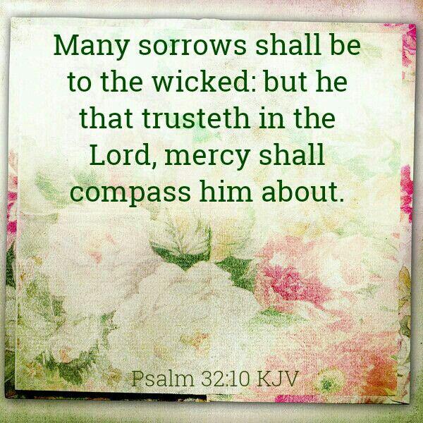 Psalm 32:10 KJV