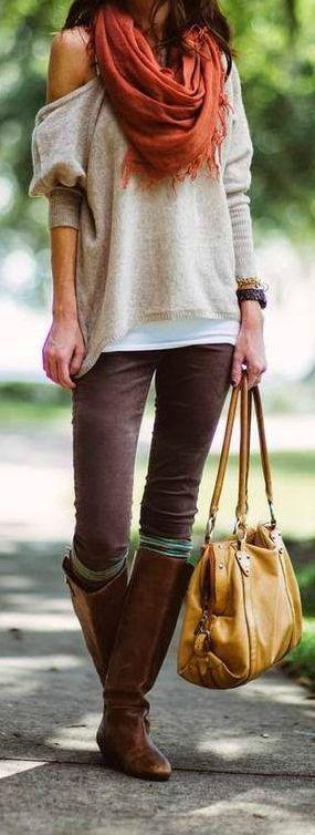Slouchy Fall Layers #lulus #holidaywear