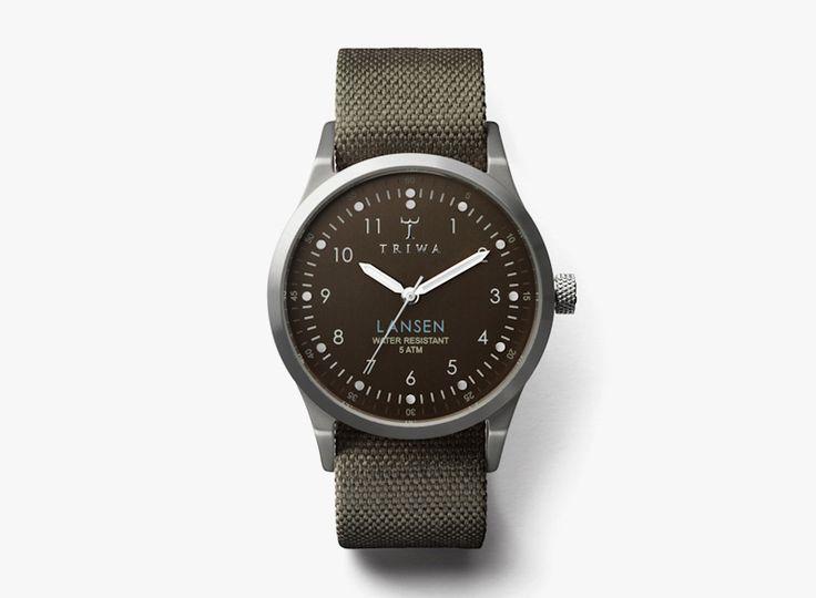 Náramkové hodinky Triwa Partisan Lansen / Black men's watches Triwa Partisan Lansen #triwa #watches #analogue #hodinky http://www.urbag.cz/hodinky-triwa-panske-damske-kolekce-podzim-zima-2014/